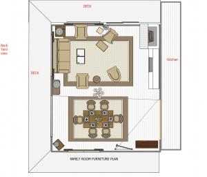 Family Room floor plan 1