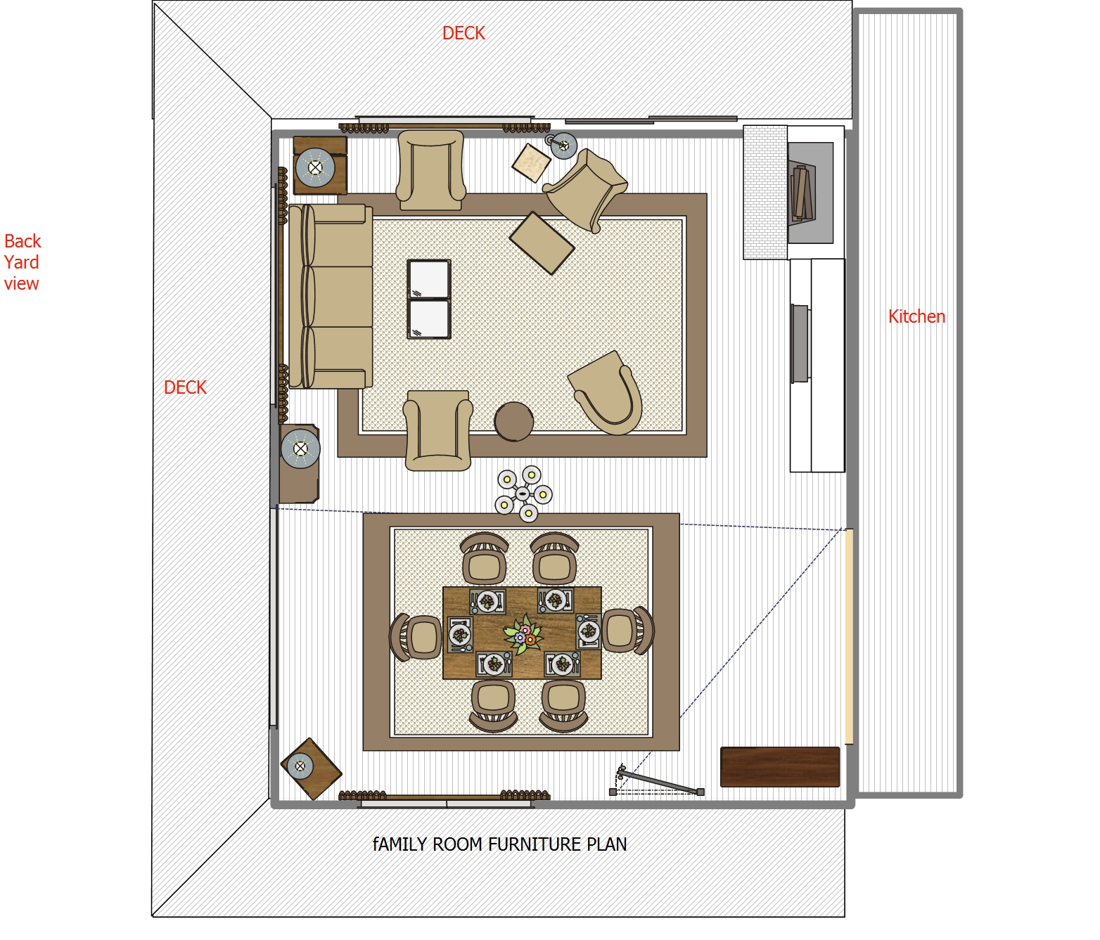Family Room Floor Plan sour cream pound cake cupcakes family room layoutsliving Family Room Floor Plan 1